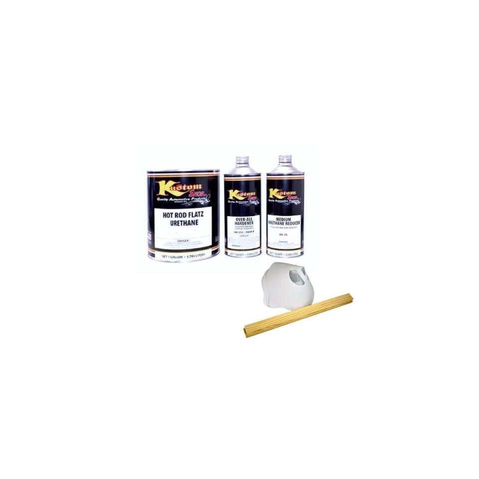 HOT ROD FLATZ Ultra Bright Snow White Quart Kit URETHANE Flat Auto Car Paint Kit With Slow Urethane Reducer