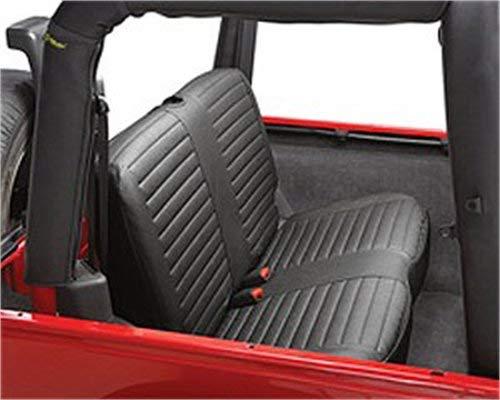 Bestop 29221-15 Black Denim Rear Bench Seat Cover for 1997-2002 Wrangler