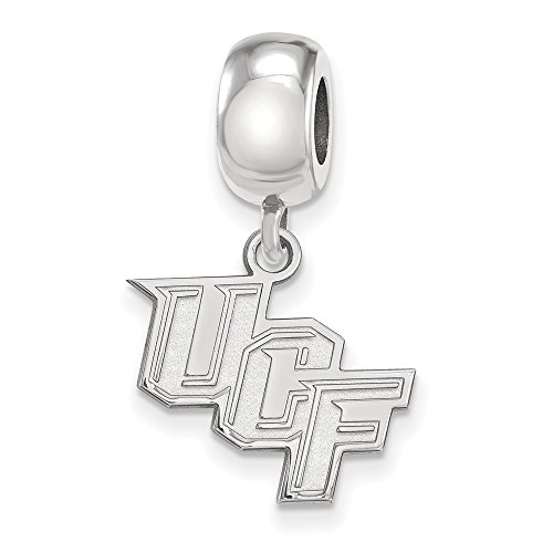 LogoArt NCAA Sterling Silver Univ. of Central Florida Sm Dangle Bead Charm