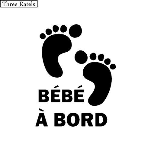 avec petits pieds adh/ésif blancB/éb/é /à bord Sticker