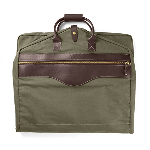 White Wing Men's Canvas Garment Bag Smoke and Forest (Non-Waxed) by White Wing