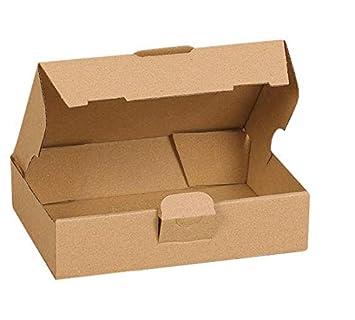 TODOKRAFT Cajas Cartón Pack de 10 - Kraft Marrón Envío - 15,5 x 11 x 5 cm regalo + Etiquetas adhesivas: Amazon.es: Hogar