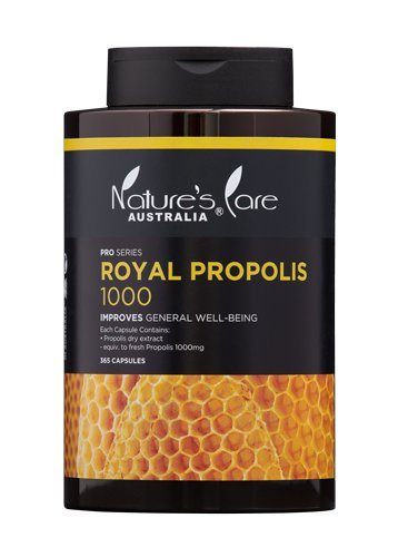 Nature's Care Health Care Royal Propolis 1000mg 365 Soft Capsules for General Well-being Australia Made by Nature's Care
