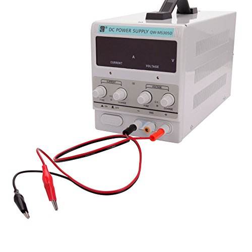 Qw Ms305d Variable Linear Dc Power Supply 0   30V   0   5A   Regulated Adjustable Lab Kit With Alligator Leads   Us Power Cord