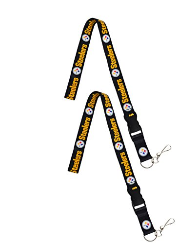 (Official National Football League Fan Shop Authentic 2-pack NFL Lanyard/keychain Office Badge Holder (Pittsburgh Steelers))