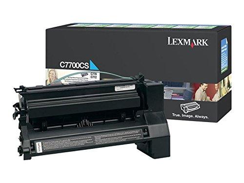 Lexmark C7700CS Cyan Return Program Print Cartridge C7700CS  For Lexmark C770 C772