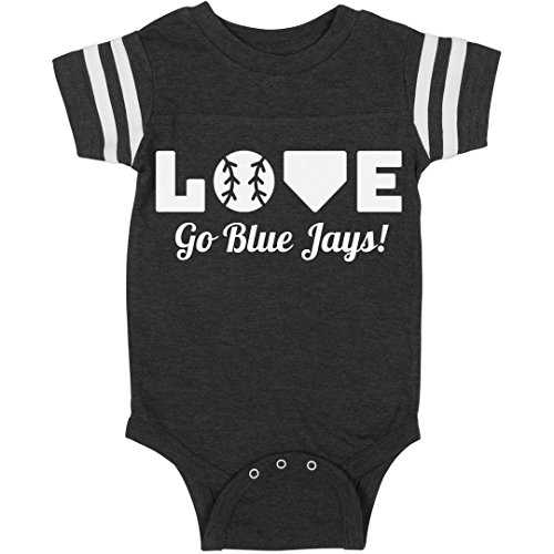 Go Blue Jays Baseball Love: Infant Rabbit Skins Football Bodysuit