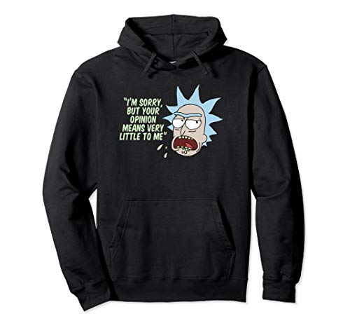 Rick and Morty Your Opinion Means Very Little to Me Pullover Hoodie