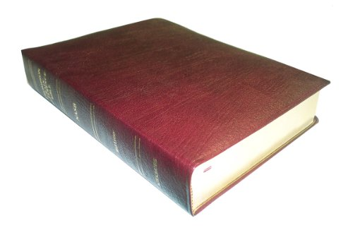 NASB - Burgundy Genuine Leather - Regular Size - Thompson Chain Reference Bible (016063)