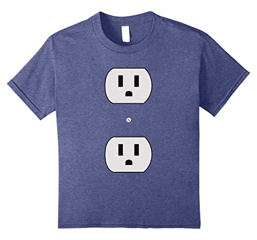 Nerd Costume Ideas For Couples (Kids Super Simple Easy Halloween Costume - Electrical Outlet Plug 8 Heather Blue)