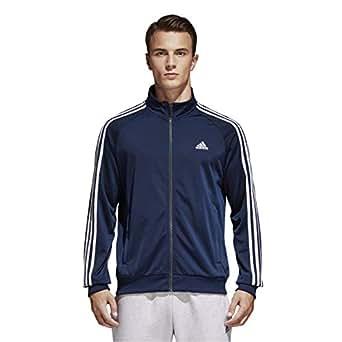 adidas Mens Adidas Men's Athletics Essential Tricot 3 Stripe Track top S1754MCL319, Mens, Adidas Men's Athletics Essential Tricot 3 Stripe Track top, S1754MCL319, Collegiate Navy/White, X-Small