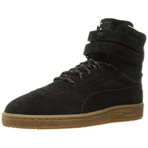 PUMA Men's Sky II Hi Winterised Basketball Shoe, Black, 9 M US