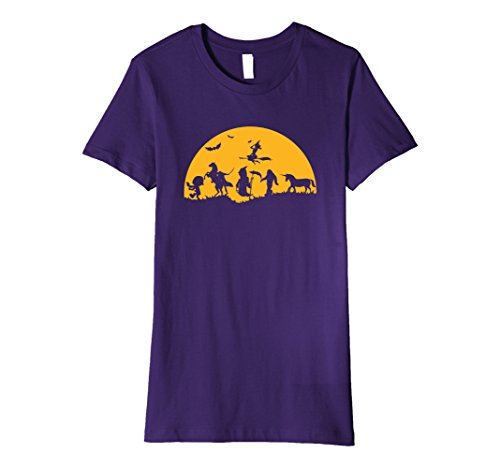 Female Scary Halloween Costumes (Womens Scary Halloween Costumes T Shirt Monsters And Mystical Being XL Purple)