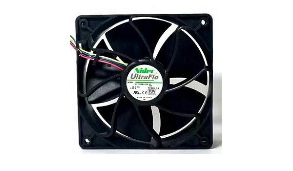 Yuebangkeji for NIDEC W12E12BS11B5-57 DC12V 1.65A 4Wire 4pin PWM Cooling Fan 6500RPM,70.5DBA,267CFM