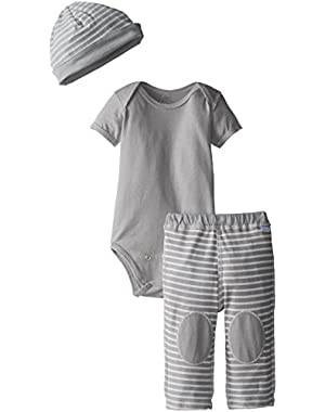 Baby Organic Bodysuit Cap and Pant Set