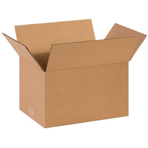 "Aviditi 14108 Corrugated Box, 14"" Length x 10"" Width x 8"" He"