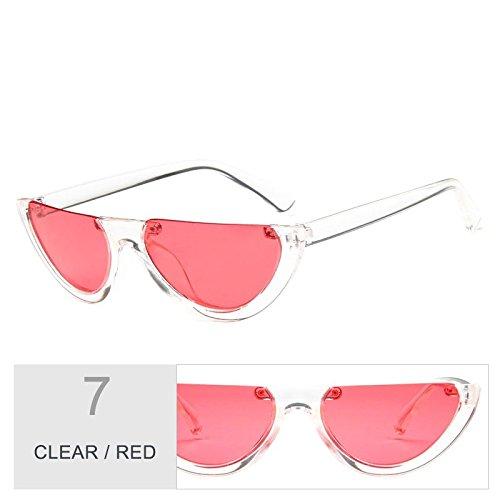 mujeres de de TL de Clear Gafas claro Negro ojo sol Vintage gafas gato Red personalidad Sunglasses qgSYA