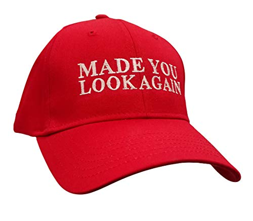 Political Made You Look Again Embroidered Otto Baseball Cap-Red