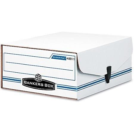Bankers Box Liberty Binder-Pak Storage Box, Letter, Snap Fastener, ()