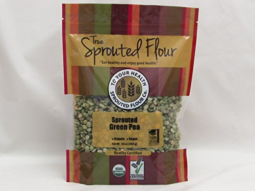 5 lb. Organic Sprouted Green Peas by To Your Health Sprouted Flour Co.