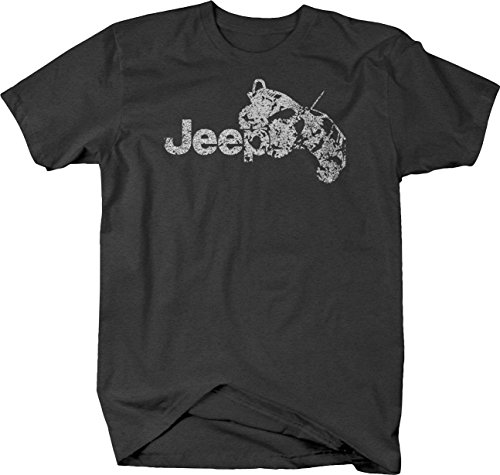 Distressed - Jeep Grand Cherokee Lifted Mud Tires Offroad Tshirt - Medium