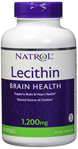 Natrol Soya Lecithin Mineral Supplement, 1,200 mg, 120 Count - Natural Soya Lecithin