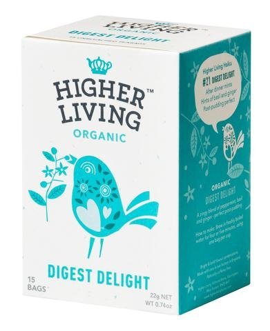 - Higher Living Organic Digest Delight Tea, 15 tea bags
