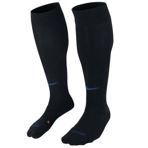 Nike Cushioned Classic Dri-Fit Soccer Socks Black (Small Womens 4 - 6, Black/Blue) by NIKE