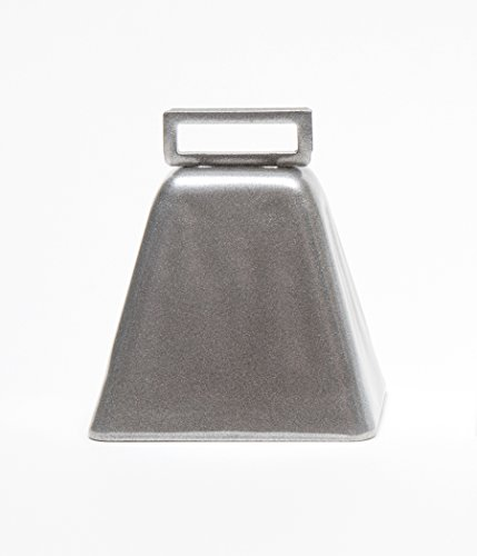 Bevin Bells - Basic Steel Cow Bell With Handle, Cow Bells Noise Maker - Silver 10LD made in Connecticut