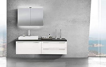 Amazon De Intarbad Badmobel Set Luxor Mit Spiegelschrank Und Design