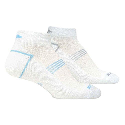 Brooks Training Day Socks Small Unisex White Blue Grey (Small) - Brooks Mens Socks