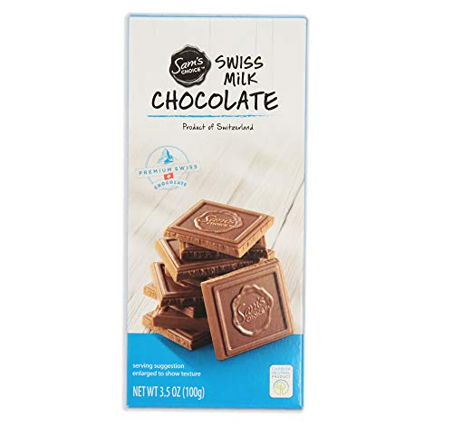 Sam's Choice Chocolate Bar, Prime Swiss Sweets, Organic, Natural Milk Flavor, 3.5 OZ, 1 PC