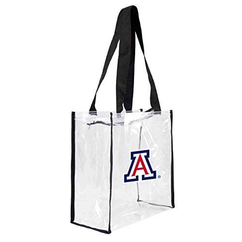 NCAA Arizona Wildcats Clear Square Stadium Tote (Arizona Wildcats Bag)