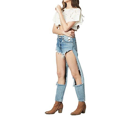 Big Loose Femmes Hu Lan Hole Jeans Personnalité Bleu Shuo Wai wx7a1XCq