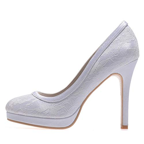 Matrimonio Tacchi da Party donna Platform bianca Lady Shoes Scarpe Pompe alti donna Women Zxstz Office Date qvTfIwBqx