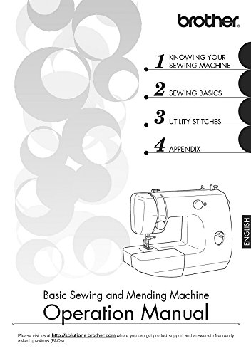 Brother LX-3125 LX-3125E Sewing Machine Owners Instruction Manual