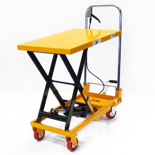 JORESTECH Hydraulic Scissor Lift Table Push Truck Cart 330 L