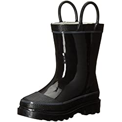 Western Chief Kids Solid Firechief Rain Boot(Toddler/Little Kid/Big Kid),Black,1 M US Little Kid