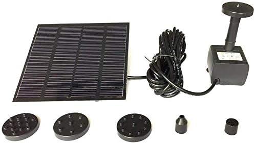 Solar Teichpumpe Solarmodul Tauchpumpe Unterwasser for Solar Panel Power Wasserpumpe Brunnenpumpe Kit Für Außenpool Pool Teich Quadratische Bewässerungspumpe Schnellstart