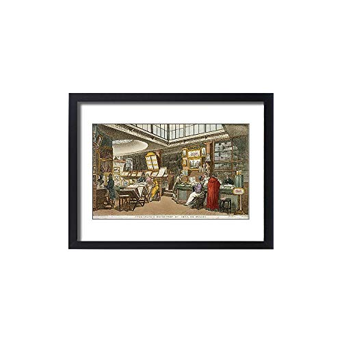 Media Storehouse Framed 24x18 Print of Ackermann s Repository of Arts, 101 Strand 1809 J000143 (1434903)