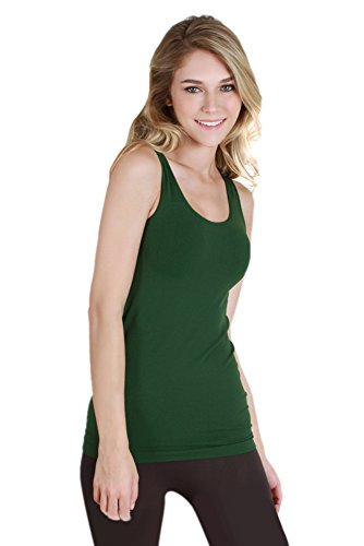 Nikibiki Womens Seamless Wide Strap Tank One Size Cypress -