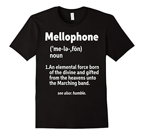 Mens Mellophone Definition T-Shirt Medium Black