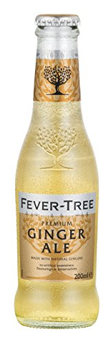 Fever-Tree Premium Ginger Ale, 6.8 Fl Oz Glass Bottle (24 Count) ()