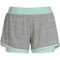 Alive Ladies Two in One Knit Yoga Running Short with Compression Short