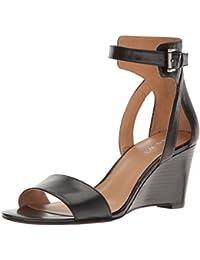 Nine West Women's Nobody Leather Wedge Sandal
