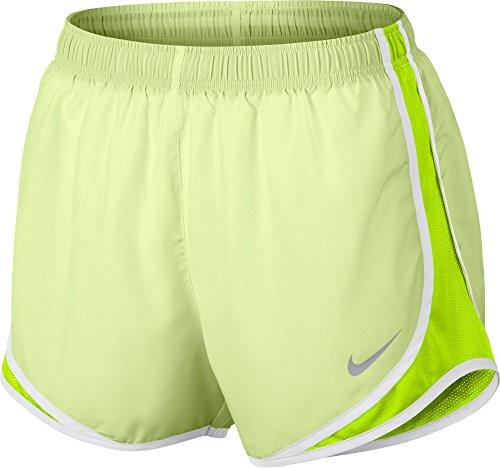 Nike Womens Tørr Tempo Kort Knapt Volt / Volt / Hvit