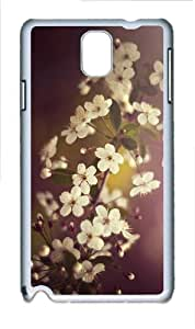 personalize case spring flower blossoms PC White case/cover for Samsung Galaxy Note 3 N9000