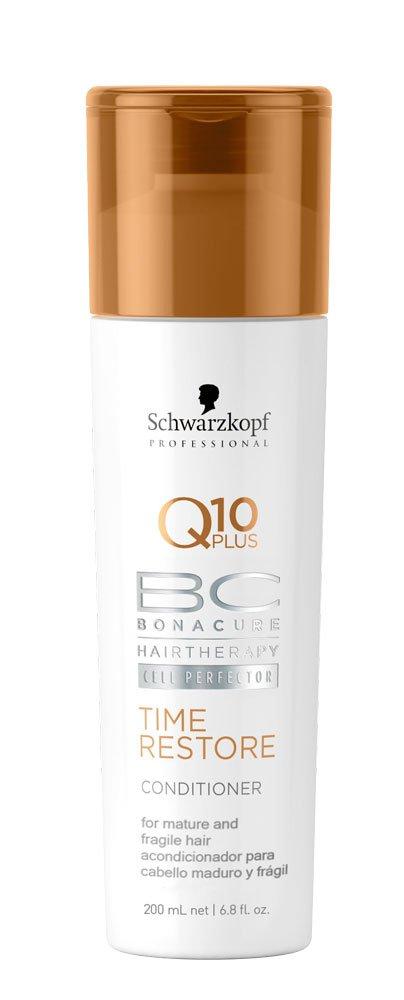 Schwarzkopf Professional Bonacure Q10 Plus Time Restore Conditioner for Mature and Fragile Hair,6.8 fl. oz.