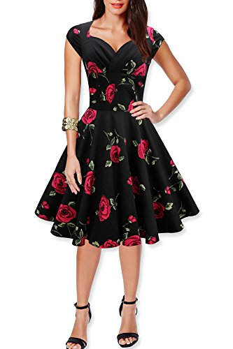 Black-Butterfly-Ruby-Vintage-Serenity-Swing-Dress
