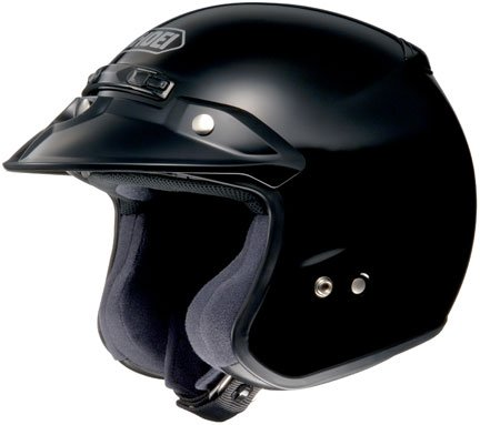 Shoei RJ Platinum R Black Open Face Helmet - Large